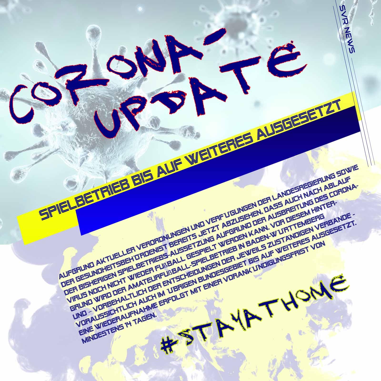 Corona-Update – Spielbetrieb bis auf weiteres ausgesetzt