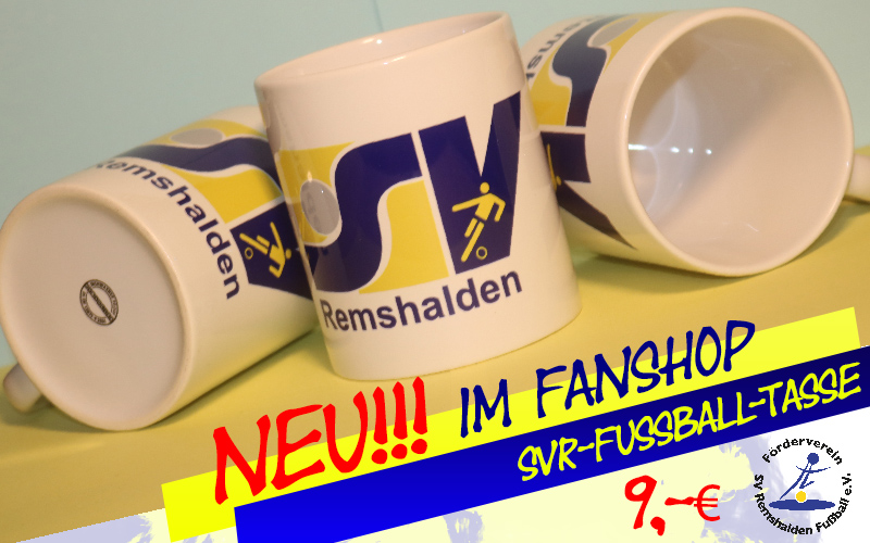 Neu in unserem Fan-Shop: Die SVR-Fußball-Tasse