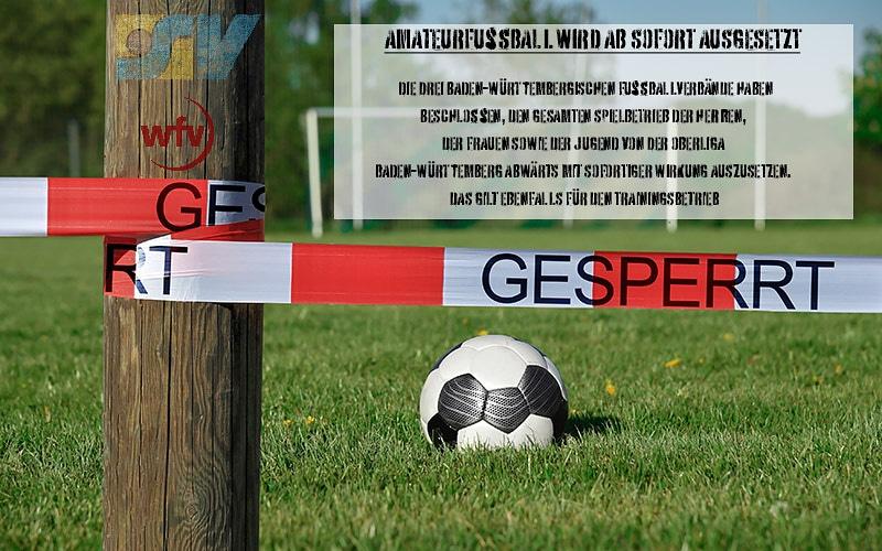 +++⚠️AB SOFORT: Spiel- und Trainingsverbot im Amateurfußball+++