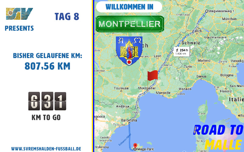 Road to Malle – Tag 8 – Willkommen in Montpellier